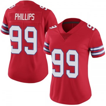 Women's Harrison Phillips Buffalo Bills Limited Red Color Rush Vapor Untouchable Jersey