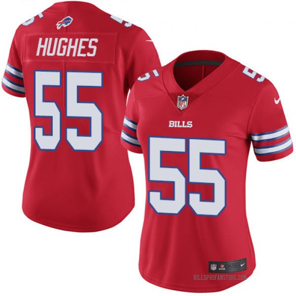Women's Jerry Hughes Buffalo Bills Limited Red Color Rush Jersey
