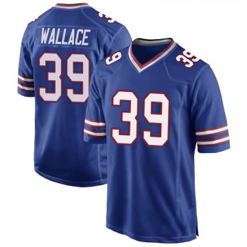 Youth Levi Wallace Buffalo Bills Game Royal Blue Team Color Jersey
